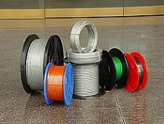 供应涂塑钢丝绳、涂塑渔具绳、高强度微型不锈钢丝绳