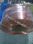 佛山T2半硬紫铜带 环保红铜卷料 精密品质