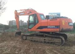 出售:纯土方斗山220-7挖掘机 抓钢机