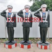 假警察生产厂家优质玻璃钢材质高速公路专用假模特