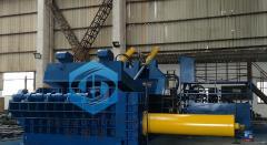 供应沙钢合作圣博牌华宏品质1000吨打包机钢刨花废钢