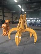 出售:各种液压抓斗 机械抓斗 二手挖掘机抓钢机 小松现代日立机器