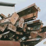 标准钢构,高11米,柱子500共约60吨